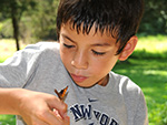 Boy with butterfly