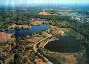 Aerial view of Silver Lake, originally published in the Potomac News